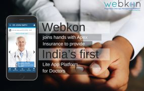 Webkon joins hands with Apex Insurance to provide India's first Lite App Platform for Doctors